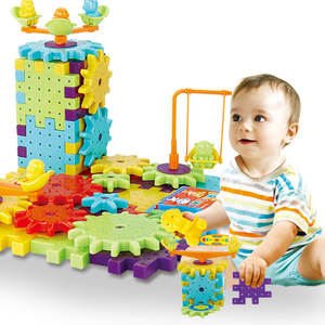 Brick Building-Kit Educational-Toys Puzzle Electric-Gear Gifts Plastic 81pieces 3d of