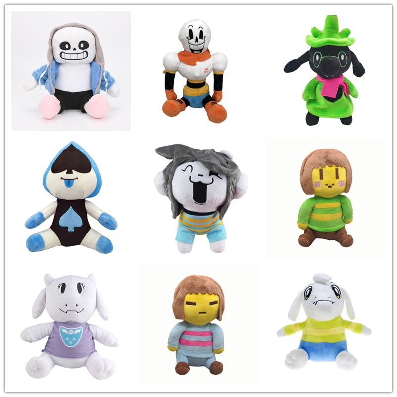 9 Styles Undertale Plush Toy Doll  Sans Frisk Chara Asriel Lancer Temmie Toriel  Stuffed Toys Birthday For Children Kids Gifts