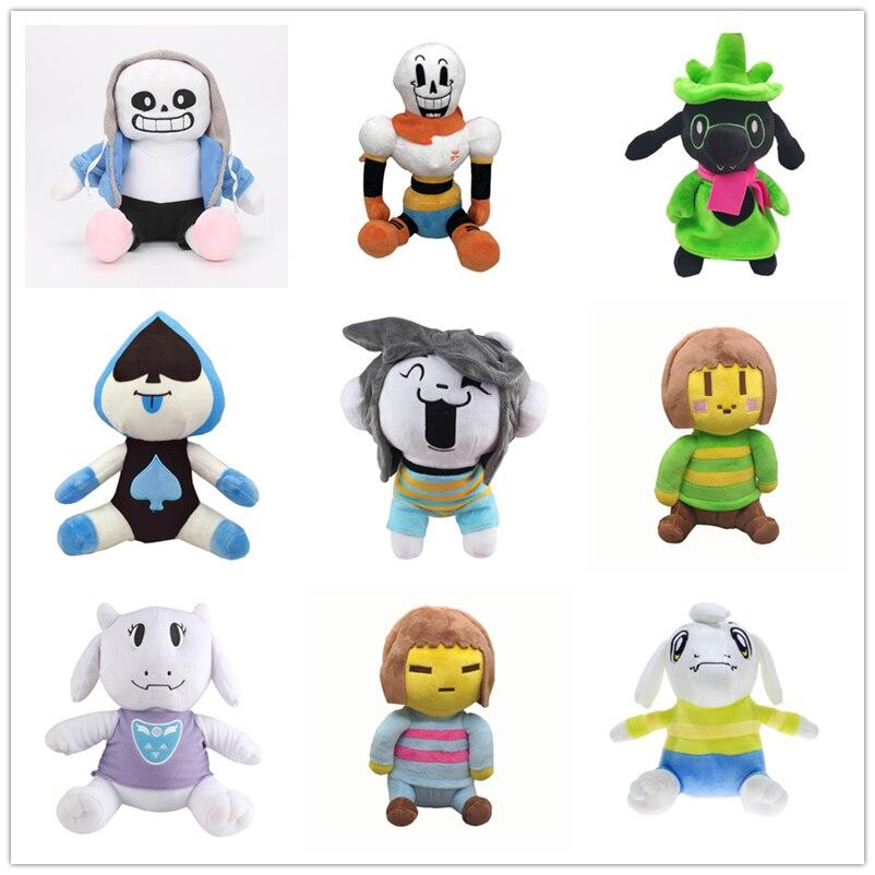 9 Styles de poupée en peluche Sans Frisk Chara Asriel Lancer Temmie Toriel jouets en peluche anniversaire pour enfants cadeaux pour enfants