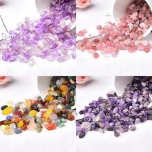 Naturalny kryształ różany kwarc Mini Rock gatunek minerału uzdrowienie może być używany do akwarium kamień dekoracji domu boże narodzenie DIY prezent