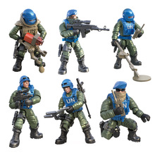 6pc/set Compatible call of military duty mini soliders figures Army weapons guns model building blocks Model Dolls bricks kit