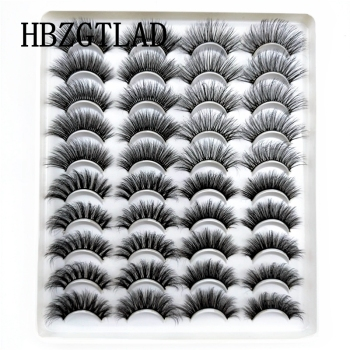 5-20 Pairs 10-23mm Natural 3D False Eyelashes Dramatic Volume Fake Lashes Makeup Mink Lashes Extension Makeup Tool Kit Cilios 1