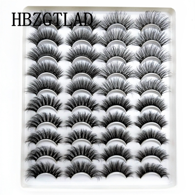 5-20 Pairs 10-23mm Natural 3D False Eyelashes Dramatic Volume Fake Lashes Makeup Mink Lashes Extension Makeup Tool Kit Cilios
