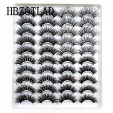 Novo 5-20 pares 10-23mm natural 3d cílios postiços dramática volume falso cílios maquiagem vison cílios extensão kit de ferramentas de maquiagem cilios
