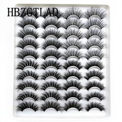 NEW 5-20Pairs 10-23mm Natural 3D False Eyelashes Dramatic Volume Fake Lashes Makeup Mink Lashes Extension Makeup Tool Kit Cilios
