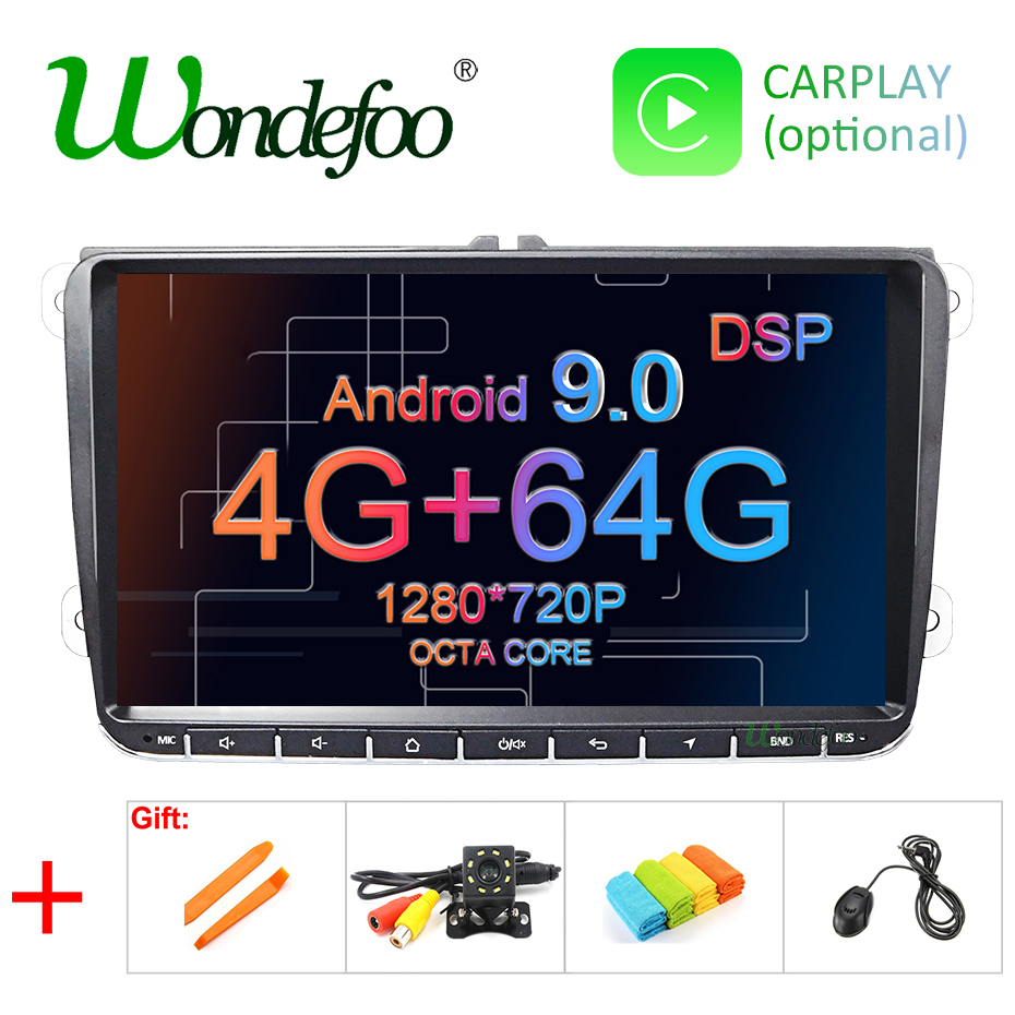 DSP Android 9 0 4G 64G Car GPS for Seat Altea Toledo VW Passat B6 CC