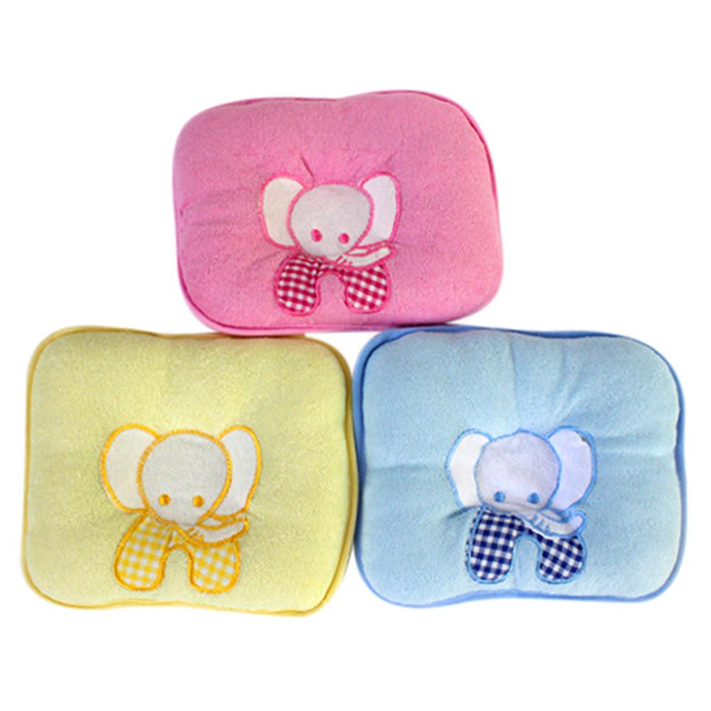 Cute Elephant Baby Infant Memory Pillow Prevent Skew Head Baby Pillow