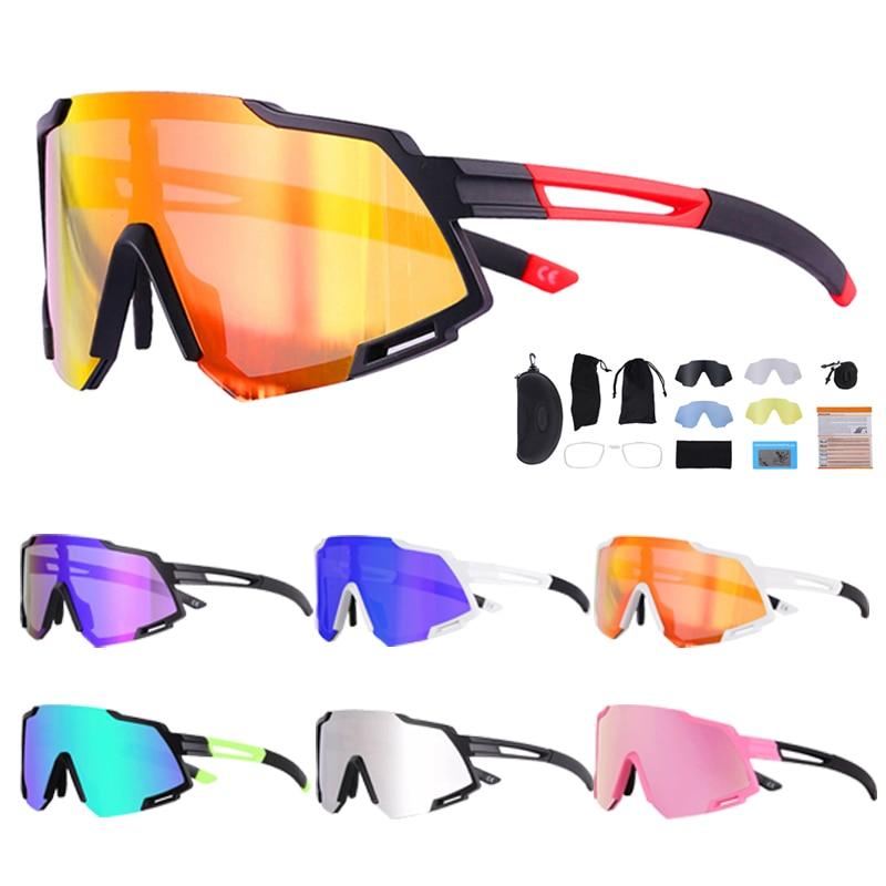 Polarized Bicycle Sports Glasses UV400 Cycling Sunglasses Motocross Driving BMX MTB Road Bikes Goggles 5 Lens Men Women Eyewear