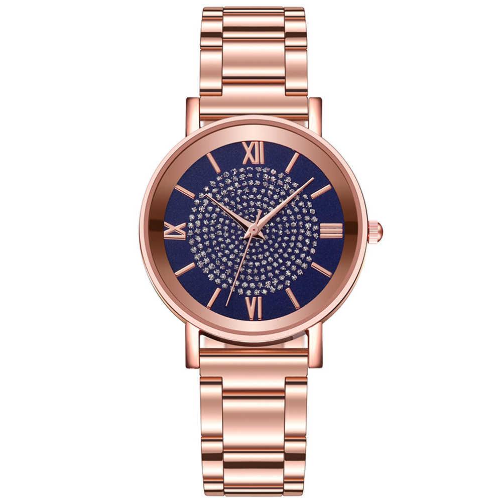 ساعات نسائية 2020 فاخرة وردة مصنوعة من الماس الذهب السيدات ساعات المعصم المغناطيسي المرأة سوار ساعة للإناث ساعة Relogio Feminino