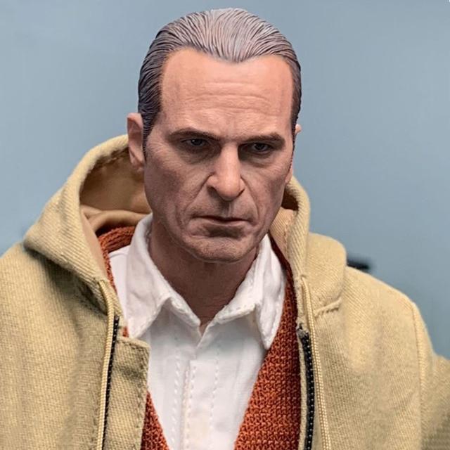 "1//6 Joker Unpainted Head Sculpt Joaquin Phoenix Model For 12/"" Male Action Figure"