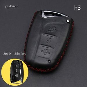 Image 5 - Coche accesorios, llave cubierta caso araba aksesuar para Hyundai IX45 Santa Fe (DM) 2013, 2014, 2015, 2016 3 botones clave Shell