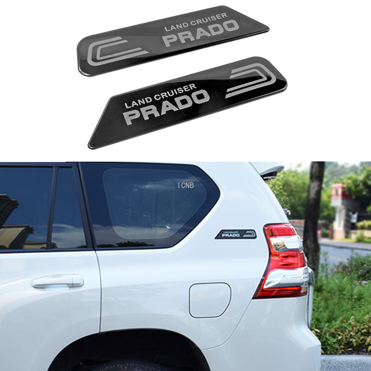 2PCS/set Stainless Steel Body Stickers for <font><b>Toyota</b></font> <font><b>Land</b></font> <font><b>Cruiser</b></font> <font><b>Prado</b></font> <font><b>120</b></font> 150 2003-2009 2010-2013 2014 2015 2016-2019 Accessories image
