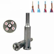 Qualidade eletricista 2 5 5 buraco cabo de fio descascamento e torção ferramenta 2.5/4 quadrado universal automático descascar máquina de dobra