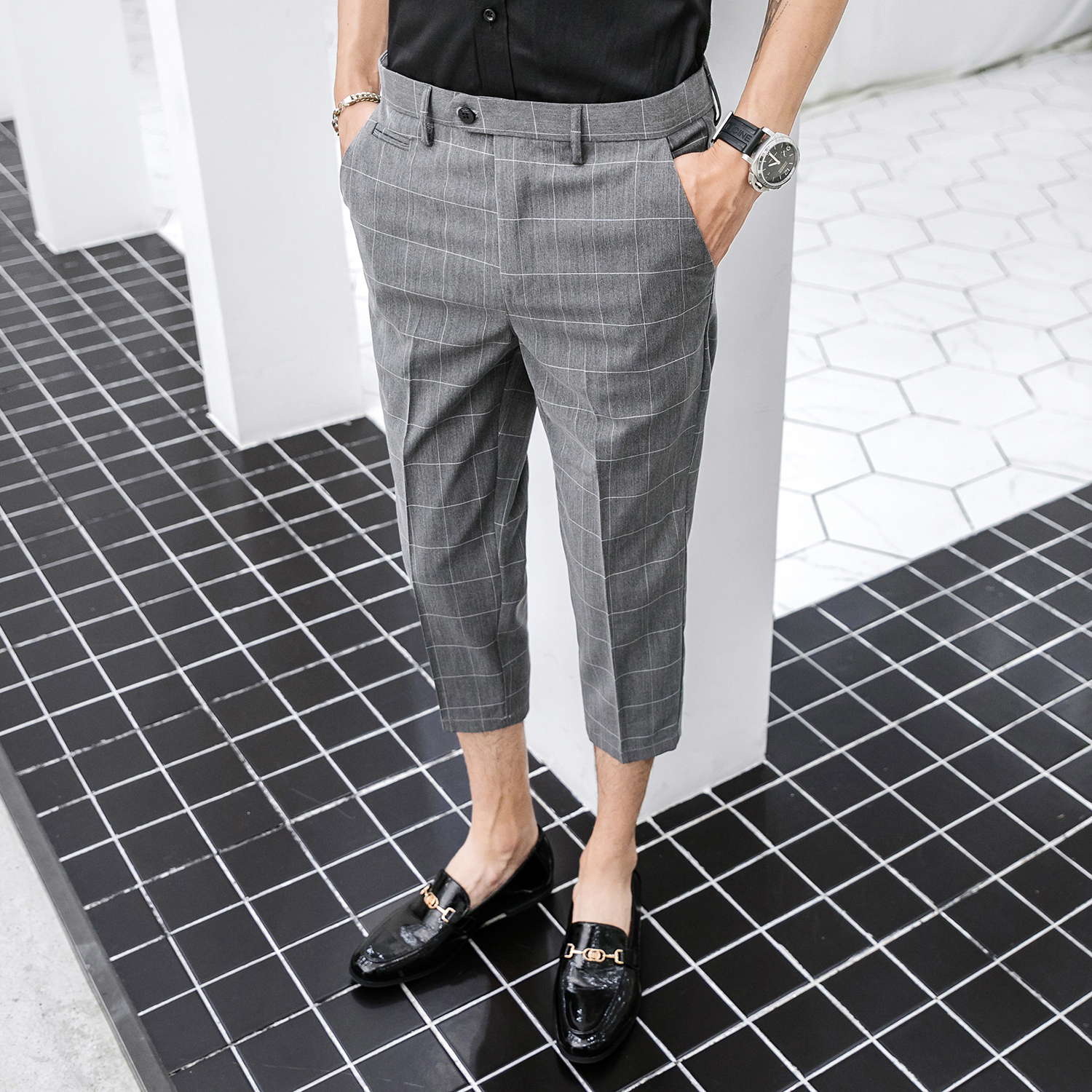 2020 Men Vintage Plaid Suit Pants Formal Dress Pant Business Casual Slim Pantalon Classic Check Suit Trousers Wedding Party 36 Buy At The Price Of 18 98 In Aliexpress Com Imall Com