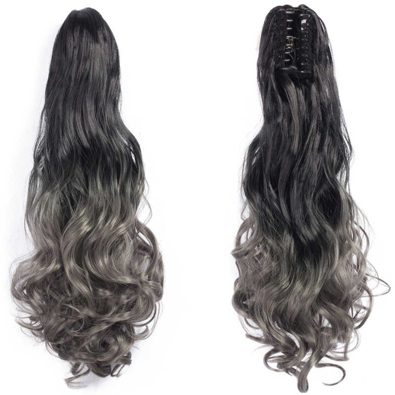 Extensiones de Cabello sintético con cola de caballo postizas para mujer extensiones de cabello con cola de caballo negra y marrón