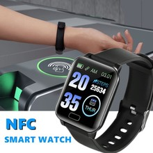 Sport Smart Watch NFC Y12 Outdoor Square Fitness Tracker Wristband for Running C