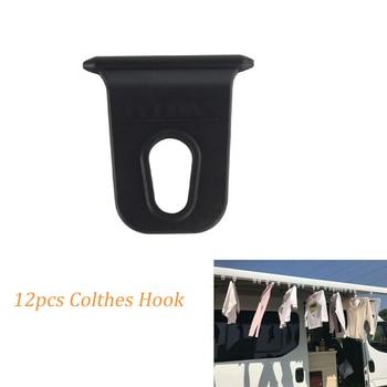 12PCS Clothes Hook Awning Hook hanger Clip String For RV Caravan Camper