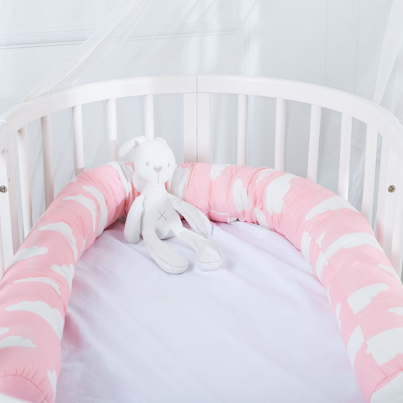 Newborn Baby Bed Bumper Children Long Pillow Bumper Infant Crib Fence Cotton Cushion Kids Room Bedding Decoration YZL008
