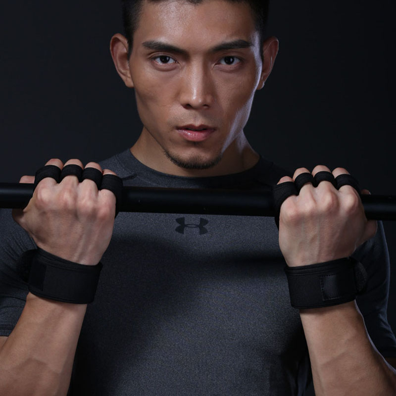 1 Pair Weight Lifting Gloves Women Men Training Hand Palm Protector Gloves Fitness Sports Body Building Gymnastics Gym Unisex