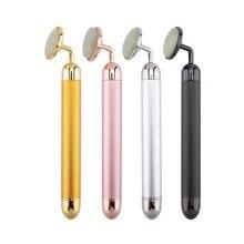 24k beauty Bar электронный нефритовый ролик для лица вибрирующий массажер для подтяжки лица против старения щеки подтяжки кожи уход машина