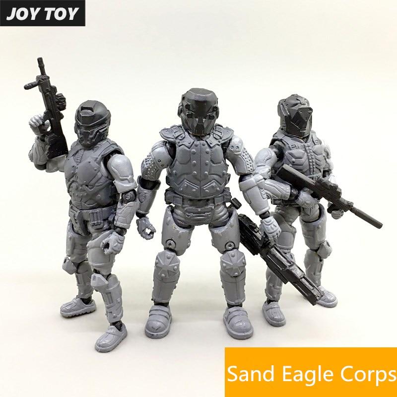 JOYTOY 1/27 Model Kit Military Soldiers PVC Super Fine Steel Ride Corps Unpainted