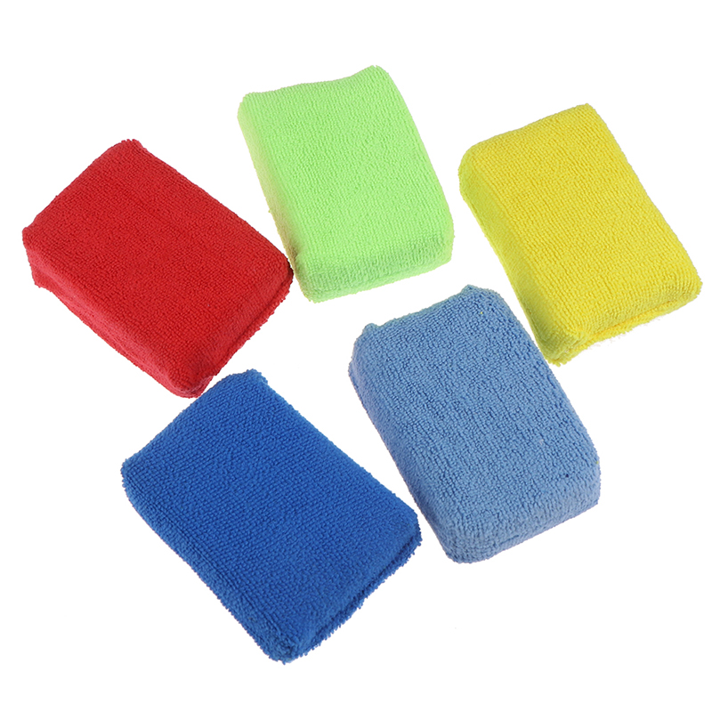 5x Car Microfiber Applicators Sponges Cloths Microfibre Hand Wax Polishing PadVQ
