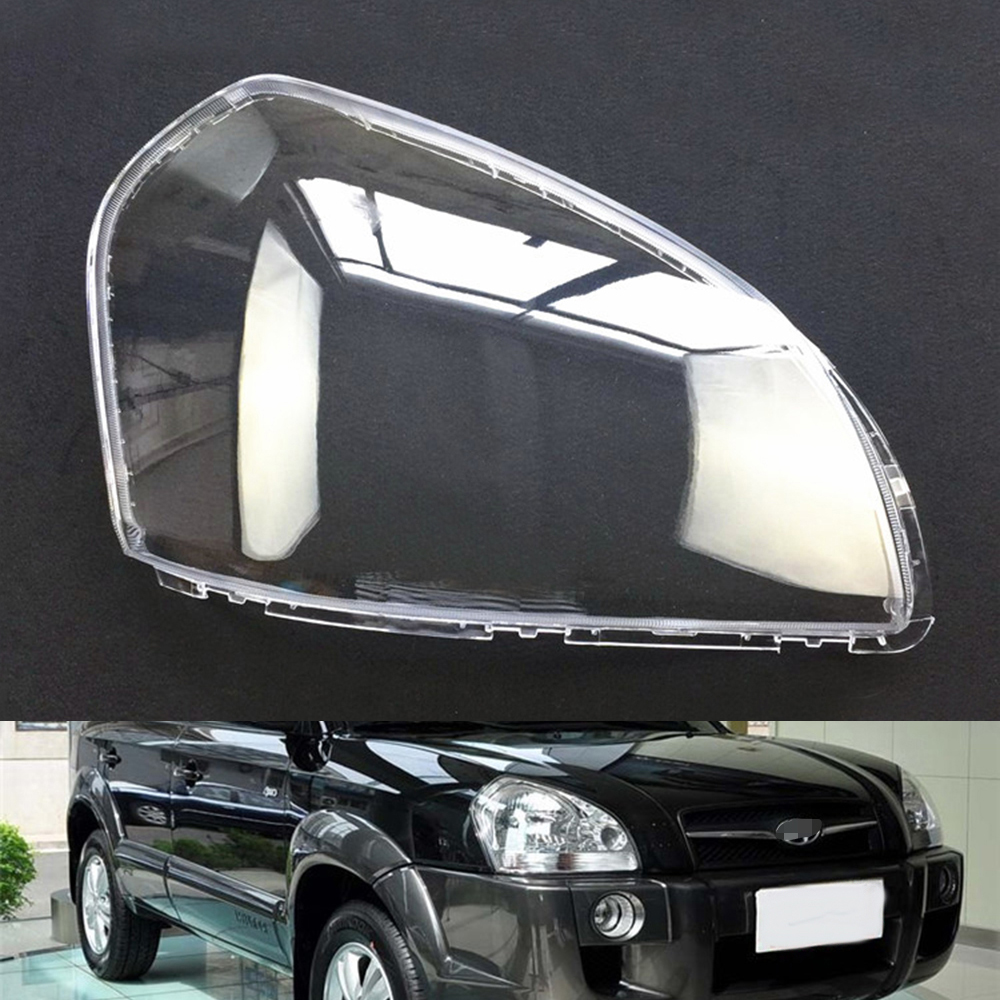 Car Headlight Lens For Hyundai Tucson 2006 2007 2008 2009 2010 2011 2012  Car Headlamp Cover Replacement   Auto Shell Cover