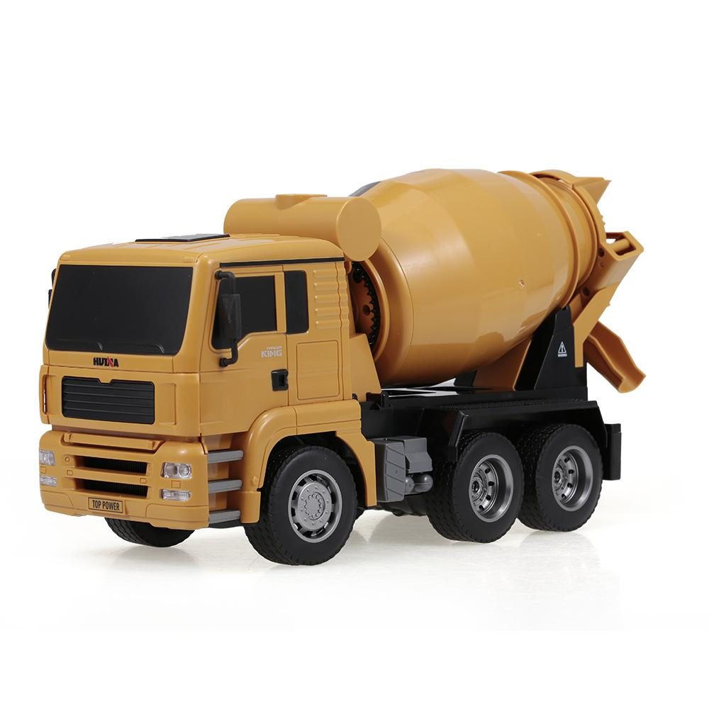 Huina 1333 1:18 2.4g 6ch Concrete Mixer Engineering Truck Light Construction Vehicle Toys For Children