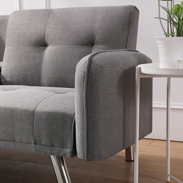 Light Grey Sofa Bed Couch  4