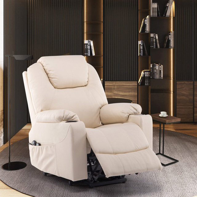 Faux Leather Reclining Chair and Electric Massage  3