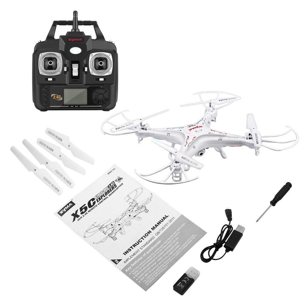 Drone SYMA X5C RC avec caméra 2MP HD gyroscope 6 axes résistance au vent plus forte (Version mise à niveau) quadrirotor hélicoptère télécommandé