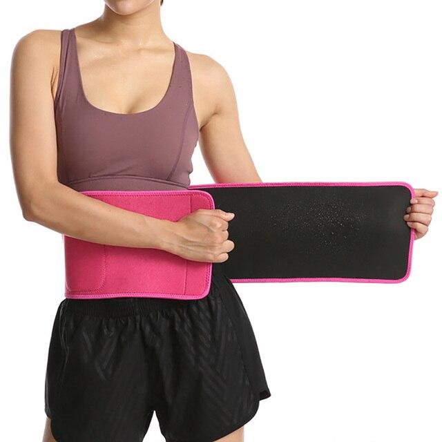 Gym Outdoor Sports Belt Sweat Belt Waist Trimmer Weight Loss Sweet Sweat Band Wrap Belly Slimming Fitness Belt For Women 2