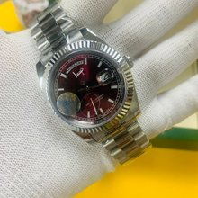 Повседневное серебряные часы 40 мм размер aaa Мужские роскошные