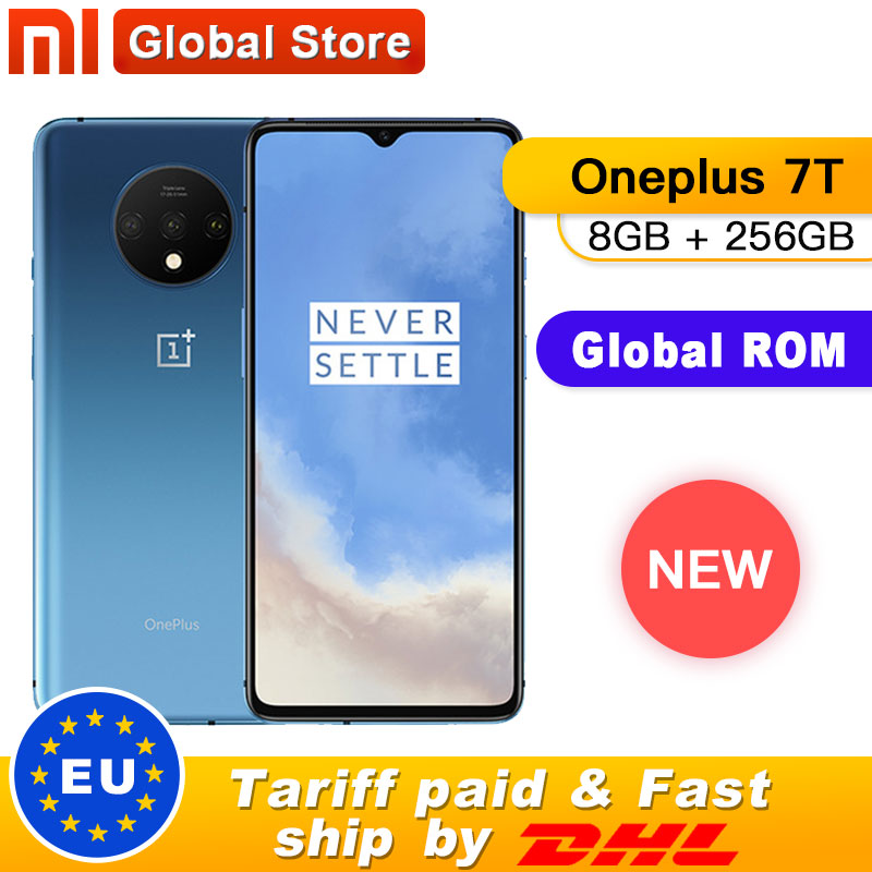 New Original Oneplus 7T 7 T Smartphone 8GB RAM 256GB ROM Snapdragon 855 Plus Android 10 6.55'' 90Hz Screen 48MP Camera Octa Core