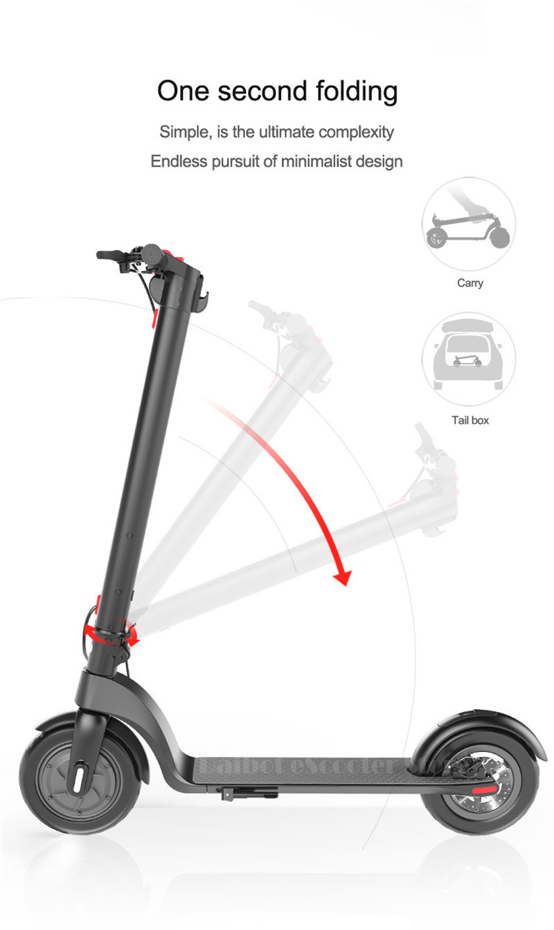 HX X7 Electric Scooter 36V 2 Wheel Electric Scooters With Removable Battery 8.5 Inch 250W Portable Folding Electric Kick Scooter (9)