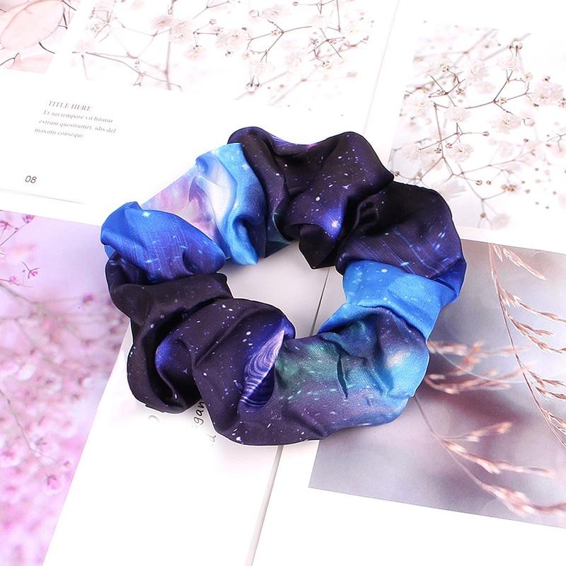 Корейский женский ободок для волос для девочек, полосатые женские резинки для волос, конский хвост, Женский держатель, веревка с ананасовым принтом, аксессуары для волос - Цвет: s4