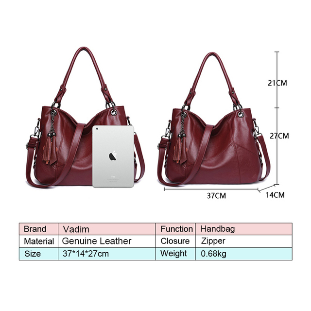 High quality genuine leather tassel luxury handbag women bags designer handbags ladies crossbody hand tote bags for women