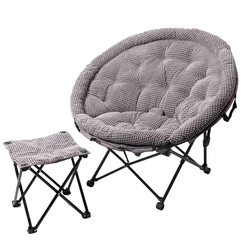 Fabric lunch break folding chair moon chair sun lounger leisure lazy couch