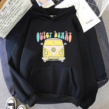 Outer Banks Sweatshirt Custom Long Sleeve Solid Girls Unisex Streetwear Pullover Unisex Men Pogue Life Cartoon Print  Hoodies