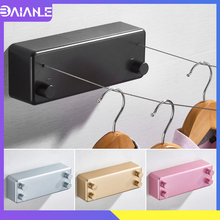 Retractable Clothesline Indoor Outdoor Rope Telescopic Stainless String Invisible Wall Mounted Laundry Drying Rack