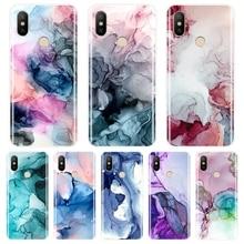 Phone Case Silicone For Xiaomi Mi 5 5C 5S 5X 6 6X Plus 8 SE Lite Marble Art Back Cover For Xiaomi Mi A1 A2 Lite 8 SE Mi5 Mi6 Mi8