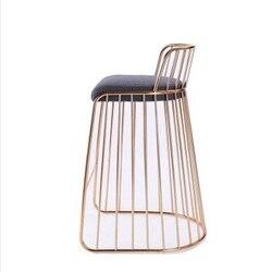 Krzesło do paznokci ins powrót Nordic krzesło do jadalni sklep herbaciany toaletka toaletka stołek kawiarnia wypoczynek krzesło żelazne|Krzesła do kawiarni|Meble -