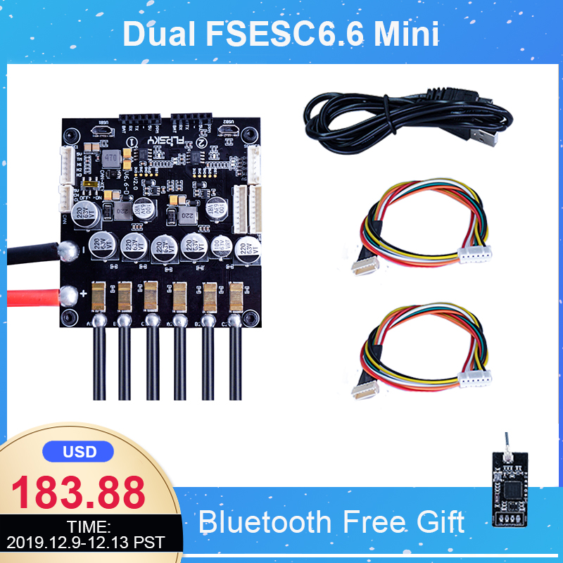 Dual FSESC6.6 With Aluminum Heatsink Mini Size Open Source Project Fit With VESC6 Software Electronic Speed Controller Flipsky