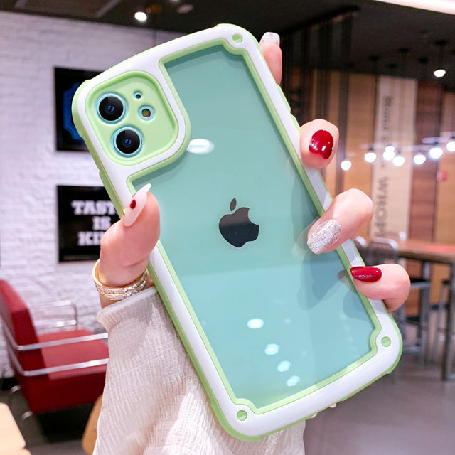 Shockproof Transparent Silicone Case for iPhone 11 Pro Phone