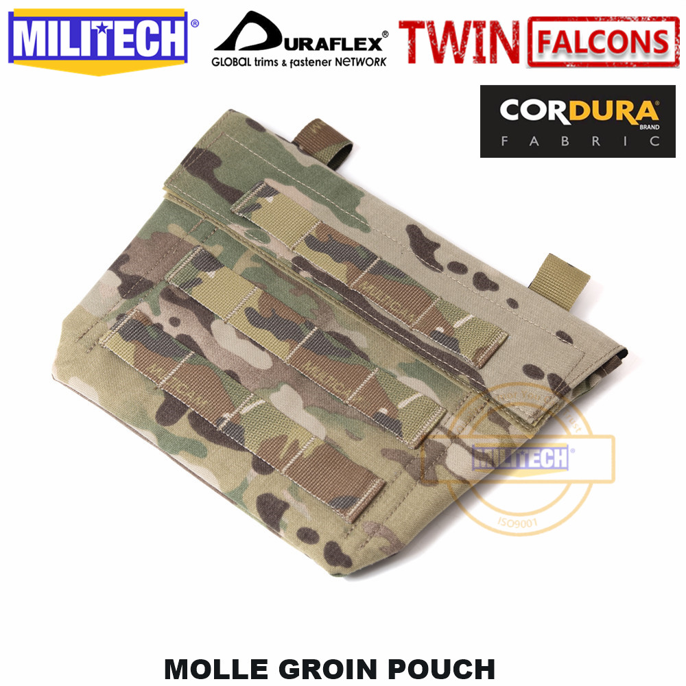 MILITECH TWINFALCONS TW 500D Delustered Cordura Molle Crye CP Groin Pouch Groin In Accessory Pouch Sub Abdominal Pouch Groin Bag
