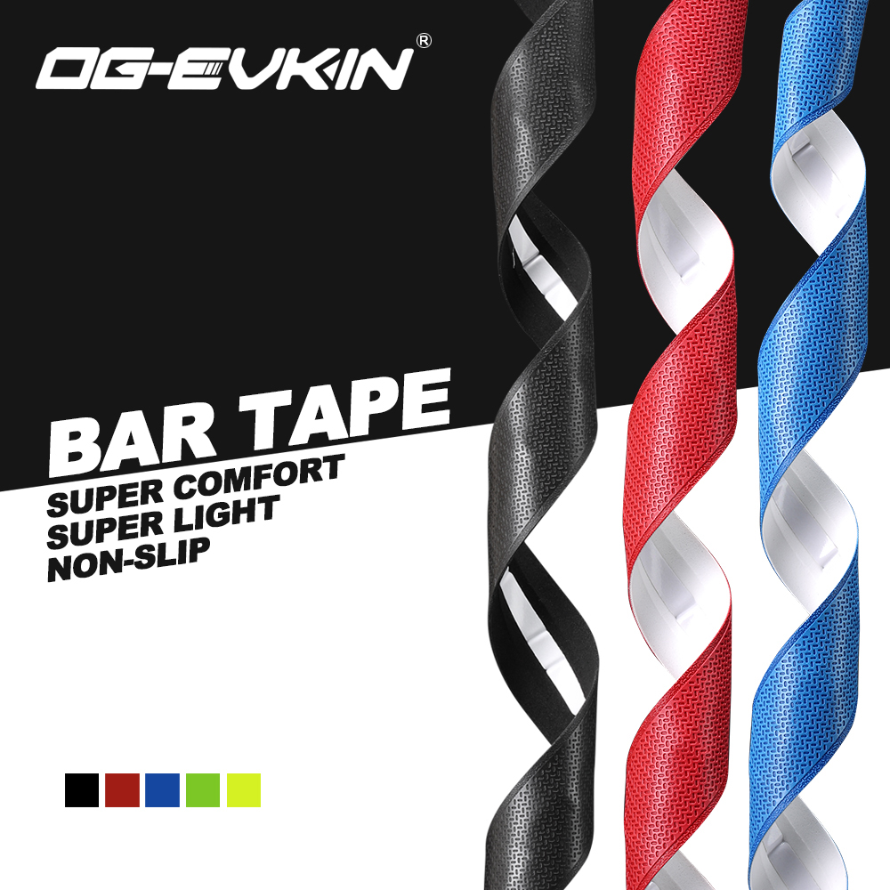 OG-EVKIN BT-001 Handlebar Tape Road Bar Tape Polyurethane/EVA Anti-Vibratio Cycling Bicycle Bike Accessories With 2 Bar Plug