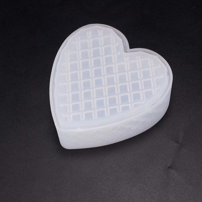 Heart-shaped Cut Section Mold DIY Crystal Epoxy Storage Box Mould Jewelry Gift Case Silicone Molds N58F