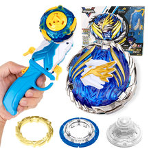 Nova infinity nado v giroscópio brinquedo de metal não parar batalha girando topo com um-botão 180 graus flip lançador para brinquedo criança