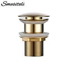 Sink-Plug Drain Water-Floor-Drain Smesiteli Pop-Up Brass Bathroom The To Non-Porous Push-Down