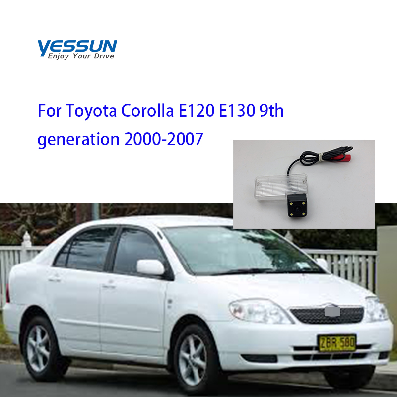 Yessun License Plate Camera For Toyota Corolla E120 E130 9th Generation 2000-2007 Car Rear View Camera Parking Assistance